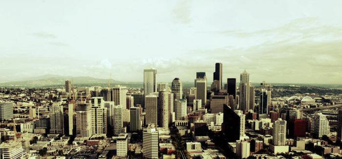 seattle downtown area by subtitulo