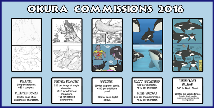 Commissions - 2016 - 2017 by Okura