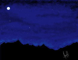 Ms Paint Night sky by Ash-Dragon-wolf