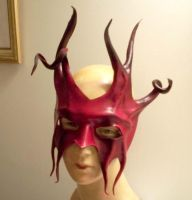 Leather Mask - Devil Jester by teonova