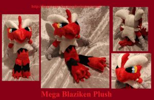 Mega Blaziken Plush - Auction - Pokemon X and Y by Forge-Your-Fantasy