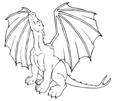 Lineart - Dragon 3 by arazia
