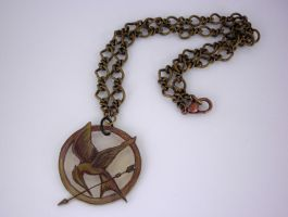Hunger Games Necklace by Lady-Blue