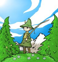 Snufkin Gone Fishing by Xertefan