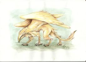 Golden Griffon by m-lupus
