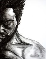 The Wolverine - Charcoal by lizzie9009