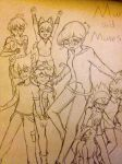 Mun and Muses - Cover [SKETCH] by selene411