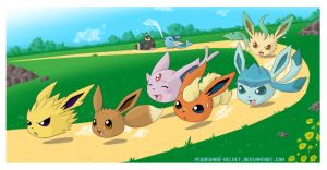 EEVEE DANGOS TRAINING by PEQUEDARK-VELVET