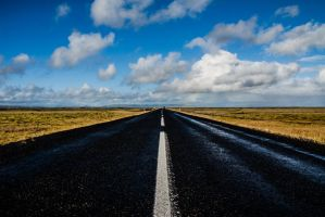 Long Road in Iceland by sheiberart