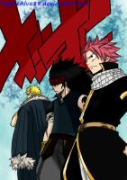 3 Dragon Slayers in Fairy Tail New Team by YughieAlva88