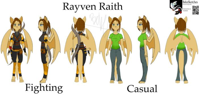 Rayven character Sheet by BeksSketches