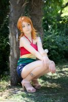 Nami Strong World, One Piece cosplay by Mellorineeee