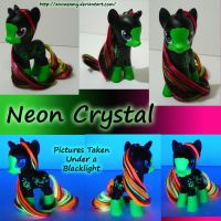 Neon Crystal Pony by AnimeAmy