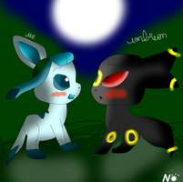 me and umbreon by Nicie132