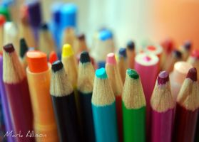 Coloured pencils by Mark-Allison