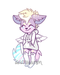 Hooded Pastel Furry Adopt [closed] by 666phantomoftheopera