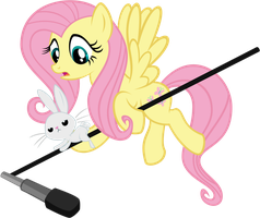 Fluttershy and Angel Bunny: Louder by tygerbug