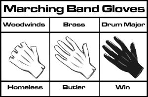 Marching Band Gloves by HollowTearsOfJoy