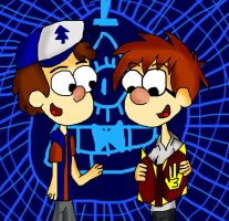 .:. Dipper And Sherman .:. by Rise-Of-Majora