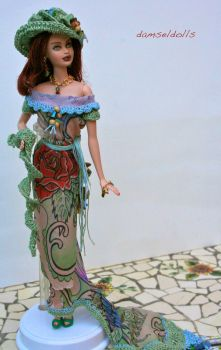 Red Rose Old Style by damseldolls