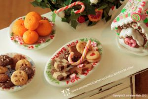 Miniature Christmas Cookies by CaroMcFW