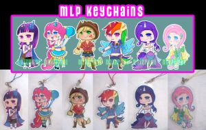 MLP Human Keychains -FOR SALE- by NoizRnel