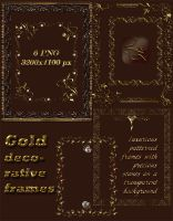 Gold decorative frames by Lyotta