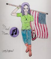 .:Mad Moon:. Patriotic by cbaughman44