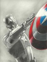 Captain America (from film Avengers) by johndibiase