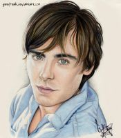 Zac Efron: Color Portrait by GeeFreak