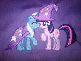 Twixie Embrodery with Hat by EthePony