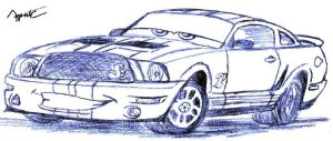 """""""Cars' """" Shelby Mustang by AgentC-24"""