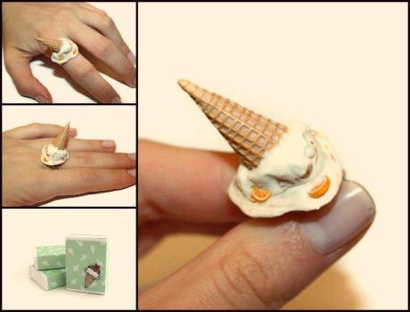 Melted Ice Cream - Handmade Ring by Maca-mau