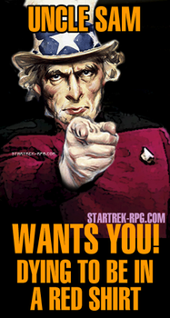 Uncle Sam Red Shirt Advertisement by TheMorr