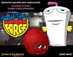 TF2 | Aqua Teen Hunger Force Demoman Bombs by nintentofu