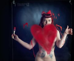 Painted Heart by PhilosophyFetish