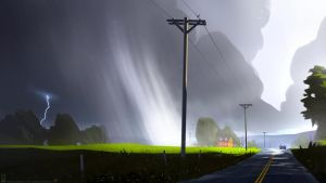 Stormy Road by Balaskas
