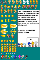 young super sonic sprites by kaijinthehedgehog