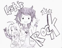 Lets Rock with Edward Elric and Marshall Lee by soguichan