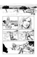 Green Arrow 7 Page 1 B+W art by mikemayhew