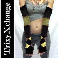 TX Textured Fingerless Gloves by TrixyXchange