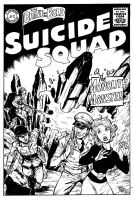 Suicide squad vs Monolith Monsters by Dogsupreme