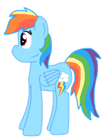 Rainbow Dash Ref by PaintTasticPony