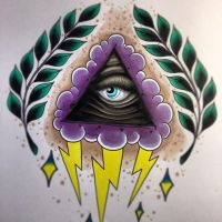 all seeing eye sketch by jerrrroen