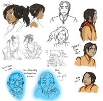 Legend of Korra Doodle-palooza by BehindtheVeil