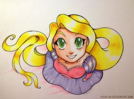 Rapunzel + Tangled + Markers by Punchiecake