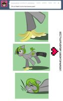 Watch out for that Banana Peel by ladypixelheart