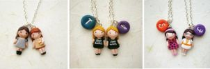 Best friends necklaces by FlowerLandBySaraMax