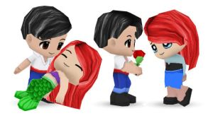 Ariel and Eric Buddypoke by Ben2DJammin