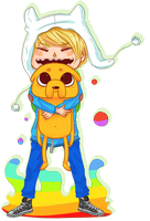 Finn and Jake by SharkHugs